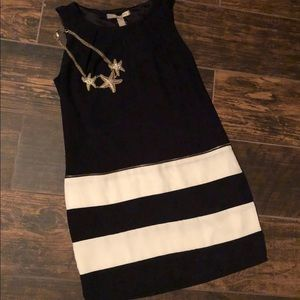 NWT Black and White with Shift Dress Sz S